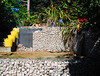 Garden project ... (neil mp) Tags: ipswich suffolk garden gabions yellow buckets trugs stones cages terrace