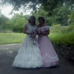 Bride and head bridesmaid (vintage ladies) Tags: wedding wollaston 80s 80swedding portrait people photograph photo bride weddingdress bridesmaids bridesmaid eoshe