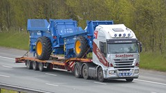 SP12 CHY (panmanstan) Tags: iveco stralis wagon truck lorry commercial lowloader freight transport haulage vehicle a1m fairburn yorkshire