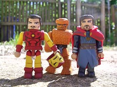 Marvels Men of Mystery (JoeyDee83) Tags: marvel comic book iron man dr strange thing robert downey jnr benedict cumberbatch minimates minifigs vinyl toy geek