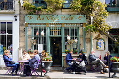 A Vieux Paris (szeke) Tags: restaurant outdoor people plants paris france street lunch notredame