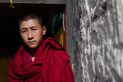Ambassador of Peace. (A. adnan) Tags: bhutan people portrait monk travel