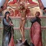 IMG_0043 Lorenzo Veneziano actif à Venise 1353-1379.  Crucifixion.  Elément d'un Polyptique dit de San Giacomo Maggiore. Element of a polyptych called San Giacomo Maggiore. Tours. Musée des Beaux Arts. thumbnail