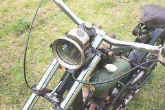 "Vintage P & H Ltd "" The Revenge "" headlamp on Bitser scratch built off road motorbike. (Yesteryear-Automotive) Tags: ph ltd birmingham powell hanmer the revenge headlamp scratch built motorbike motorcycle"