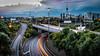 Auckland City (michaels.jeff) Tags: auckland aucklandcity nz newzealand nzphotography slowshutter urban traffic lights lighttrail skytower tower