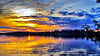 Orange And Blue (Bob's Digital Eye) Tags: bobsdigitaleye canon clouds efs24mmf28stm flicker flickr h2o lake lakesunsets lakescape may2018 reflections silhouette skies sunsets t3i water silhouettes laquintaessenza explored sunset sunsetoverwater