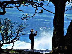 Sunny day (thomasgorman1) Tags: photographer photography cellphone camera beach woman silhouette nature outdoors canon onekahakaha park sea waves splash crash coast shore scenic view candid public island tropical tourism travel hilo