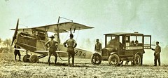 1st airmail flight from Wash DC finally arrives at Bustleton. PA May 1918 NARA165-WW-556D-024 (SSAVE over 13 MILLION views THX) Tags: usps unitedstatespostalservice airmail 1918 airplane aircraft armyaircorps