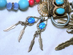 """""""Ready for the Day"""" Final Details (marieschubert1) Tags: earrings keys chain turquise opal siver jewloery """"ready day"""" """"macro mondays"""""""