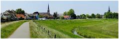 Panorama Ilpendam (Hans Veuger) Tags: nederland thenetherlands noordholland waterland ilpendam panorama stitch churches dijk purmerdijk polder village nikon b700 coolpix nederlandvandaag twop