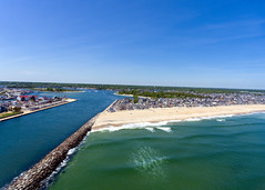 Manasquan Beach and the Atlantic Ocean, captured by a DJI Phantom 4 drone. (apardavila) Tags: atlanticocean djiphantom4 jerseyshore manasquan manasquanbeach manasquaninlet manasquanriver aerial beach beachfronthomes drone ocean sky waves