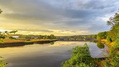 Taunton River  Sunset  bridge (Andrew Lincoln Photos) Tags: thetauntonriver bridge berkley massachusetts andrewlincolnphotographer