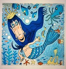 25% off this print and others with code HANGART ends tonight at midnight PT, Free Worldwide Shipping Today!  #mermaid #mermaids #mermaidart #mermaidgifts #mermaidcollectors #sealife #blue #quirkyart #mermaidlove (sassyone2013) Tags: mermaid mermaids sirena sealife fish octopus crab crabs nautilus nature fantasy lasirena seahorse jellyfish kelp seaurchin water sea ocean nautical marine blue blueart mermaidart mermaidcollectors seaanemone cartoon animation illustration drawing colorblue beach feminine female women woman beautifulwomen fantasyart mermaidtail mermaidgifts mermaidcollections boobs breasts creature creatures whimsical cute happy fun sweet indiegifts indieartists indieart
