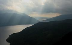 Loch Lomond (DaveSinclair) Tags: mountain mountains dark scotland hill hills loch sunbeam lochlomond sunbeams hillwalking munro benvorlich saveit deleteit2 saveit3 saveit1 deletei