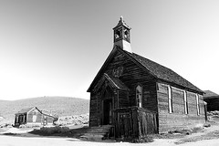 Bodie Methodist Church, 1882 (Leviathor) Tags: california travel blackandwhite bw abandoned church geotagged ghosttown bodie methodist bodiestatehistoricpark roadtrip2006 geotoolgmif abigfave arresteddecay geolat38211327 geolon119014871