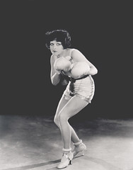 Clara Bow. (carbonated) Tags: 1920s flapper boxing clarabow