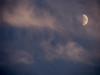 we wax. we wane. we drive ourselves insane. (emdot) Tags: moon clouds waxing earlyevening waning utatainhalf halfamoon