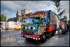 Graf Truck (Darny) Tags: nyc newyorkcity newyork les graffiti graf lowereastside hdr grunts tiltshift webcity darny