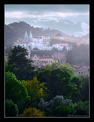 Claiming Nature (Alex Guerra) Tags: trees light mist mountain storm colour green portugal monument nature clouds forest landscape hill sintra palace historic roofs national chimneys palcio alexguerra montedalua cccunanimous gettyimagesiberiaq2 gettyimagesiberiaq3
