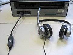 headset podcasting