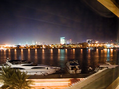 Dubai Creek (calajava) Tags: dubai unitedarabemirates creek night nightview hotelroom hotelview      geotagged
