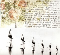 ...roses (the3robbers) Tags: girls roses wallpaper art collage book transfer solvent fairburn the3robbers issue12