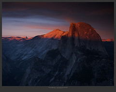 1423. (koaflashboy) Tags: california sunset mountains nationalpark raw 500v20f granite halfdome yosemitenationalpark canong2 yosemiteblogcom