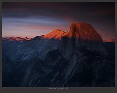 1423. (koaflashboy) Tags: california sunset mountains nationalpark raw 500v20f granite halfdome yosemitenationalpark canong2 yosemiteblogcom