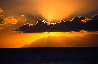 puesta de sol canaria