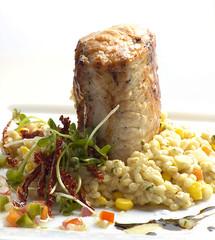 Solomillo de cerdo y risotto de cebada 2