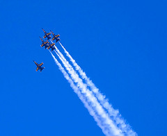 Blue Angels - Flight Formation (xelor (on and off)) Tags: sanfrancisco california blue usa plane canon photography powershot blueangels a610 smorgasbord teampilipinas explorewinnersoftheworld