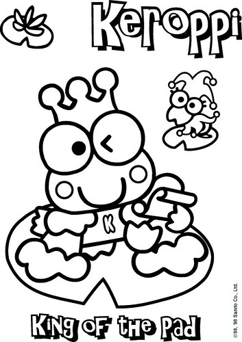 free keroppi coloring pages - photo #14