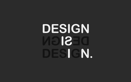 Design is in. by Mark Garrigan.