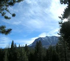 Peaking at Lassen Peak (Vicki & Chuck Rogers) Tags: sky clouds photo nationalpark lassenvolcanic novideo lassenpeak photosonly
