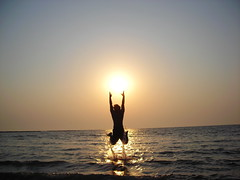 sun catcher ([s e l v i n]) Tags: sunset sun india tourism beach happy interesting jump action brother suncatcher bombay ecstasy euphoria mumbai travelindia touristspots manori indiantourism nikonstuninggallery p1f1 indiantour anawesomeshot exhilarate selvin