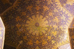 Isfahan (shapour bahrami) Tags: iran islam persia mosque ceiling esfahan isfahan immammosque