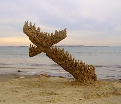 Revere #2, profile (sandcastlematt) Tags: sculpture castle beach sand massachusetts creativecommons sandcastle sandsculpture revere reverebeach bostonist dripcastle cloudyday interestingness24 dripsculpture