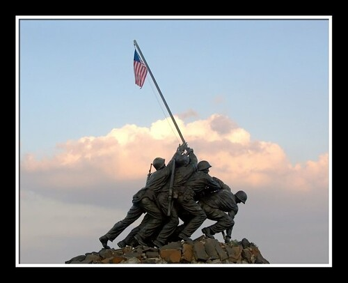 The Marine Corps War Memorial (a.k.a. Iwo Jima Memorial) stands as a symbol