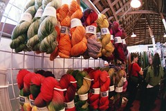 blue moon fiber arts stall  at the oregon flock & fiber festival (cafemama) Tags: wool oregon knitting kim knit yarn bluemoon canby larissabrown socksthatrock bluemoonfiberart bluemoonfiber oregonflockfiber oregonflockfiberfestival flockfiber forthebook