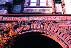 The Truth Shall Make You Free (Musical Mint) Tags: toronto building architecture truth arch universityoftoronto entrance philosophy archway thetruthshallmakeyoufree victoriacollege musicalmint
