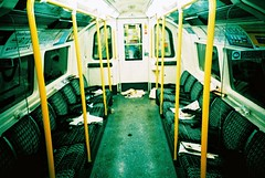 Last Train (edscoble) Tags: china camera london film 35mm underground lomo lca xpro lomography xprocess crossprocess tube ct slide soviet plus agfa russian automat northernline londonist c41 precisa kompakt