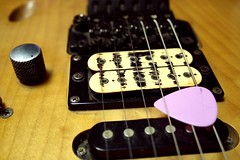 Let's play (Red S.) Tags: music play notes guitar strings pick pickups bigb floydrose