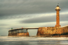 Whitby, West Pier...... (Tall Guy) Tags: uk england canon wow landscape photography coast photo photos britain yorkshire photograph enjoy whitby northyorkmoors eastcoast tallguy subtlehdr
