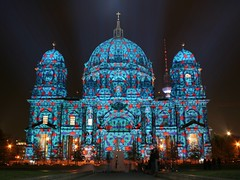 Patterned Berlin Cathedral (M Kuhn) Tags: 15fav berlin night 510fav nacht festivaloflights berlinerdom berlincathedral oberpfarrunddomkirchezuberlin festivaloflights2006