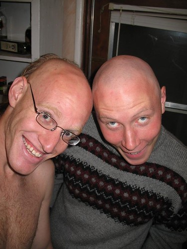Bjorn & Me shaved heads