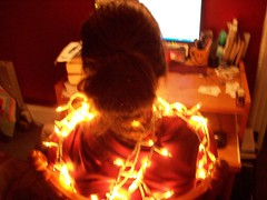 fun with christmas lights (saraandaaron) Tags: christmas xmas lights christmaslights minilights