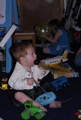 Prezzies Galore! (Gill, Jo & James) Tags: birthday toys james joana