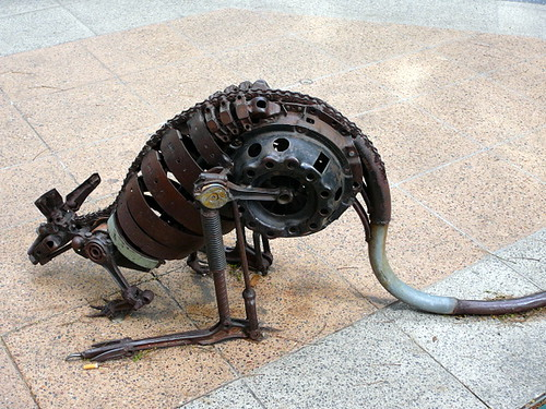 Robot kangaroo by Leanne A.