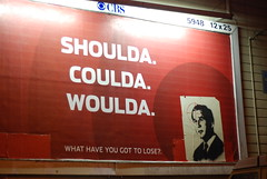 George Bush Shoulda billboard alteration - by Steve Rhodes