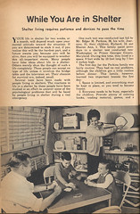 While You Are in Shelter (wardomatic) Tags: vintage magazine falloutshelter shelter atomic 1962 coldwar handbook